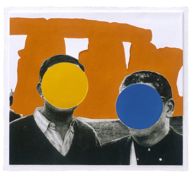 , 'Stonehenge (With Two Persons) Orange,' 2005, Mixografia
