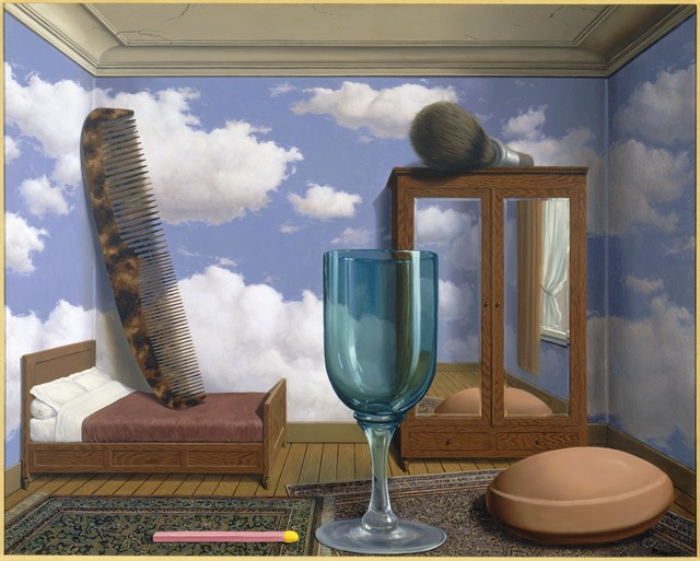 René Magritte, 'Les valeurs personnelles (Personal Values)', 1952, Painting, Oil on canvas, San Francisco Museum of Modern Art (SFMOMA)