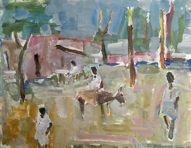 , '  Village Square,' , Eisele Fine Art