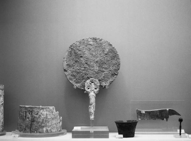 , 'Bronze mirror with ivory handle with rosette decoration, Tholos tomb 2. Myrsinochori, Messenia. 15th c. BC,' 2018, PARISIAN LAUNDRY