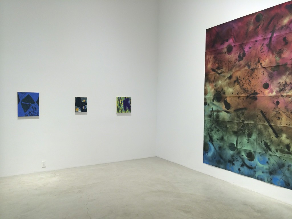 """How Some Paintings Are Born"" installation at Baik Art"