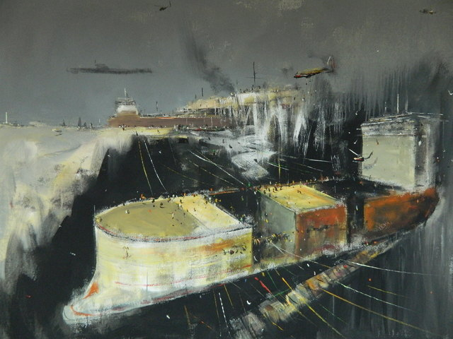 "Konstantin Batynkov, '""In the harbor"" 3', 2013, Krokin Gallery"