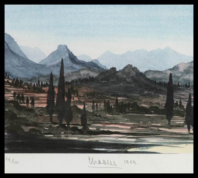 HRH Prince of Wales, 'Greek Island Landscape', 1999, Belgravia Gallery