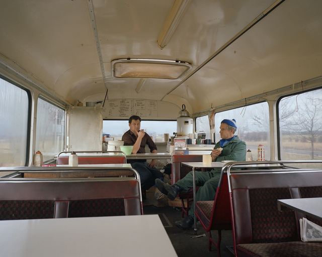 , 'Bus Converted to Café, Lay-by, West Yorkshire, November 1982, from the series A1 - The Great North Road,' 1982, Anthony Reynolds Gallery