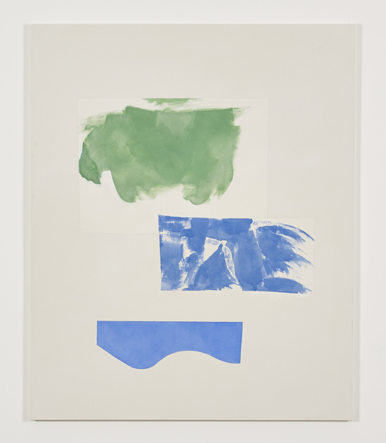 Peter Joseph, 'Green and two blues (November 2014)', 2014, Painting, Acrylic on cotton duck, Galerie Greta Meert