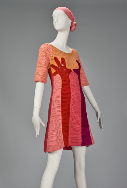 ", '""Hands"" dress ,' ca. 1967, de Young Museum"
