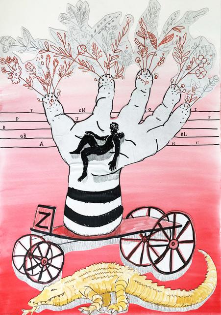 , ' Hand Vase on Wheels,' 2020, 99 Loop Gallery