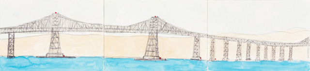 , 'Richmond Bridge (Triptych),' 2013, Creativity Explored