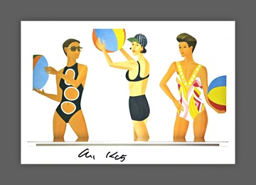 Alex Katz Cut Outs (Hand Signed)