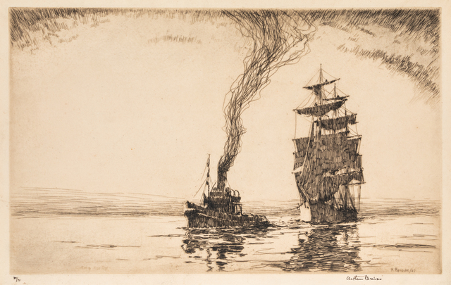 Arthur Briscoe, 'Casting Her Off and The Futtock Shrouds', Print, Etchings, Hindman