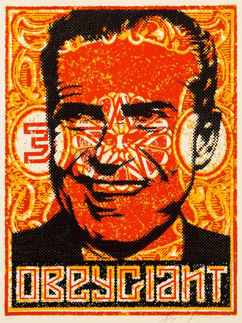Shepard Fairey, 'Nixon Stamp Poster', 2000, Print, Screenprint in colors on cream speckled paper, Heritage Auctions