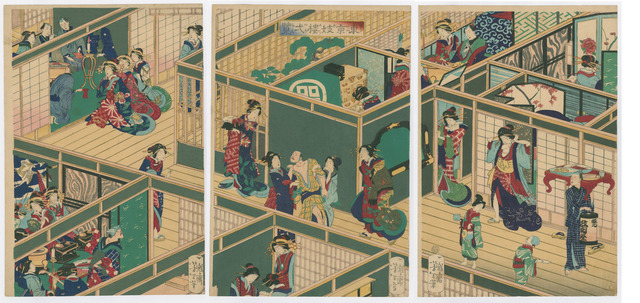 , 'Inside a Tokyo Brothel,' 1870, The Art of Japan