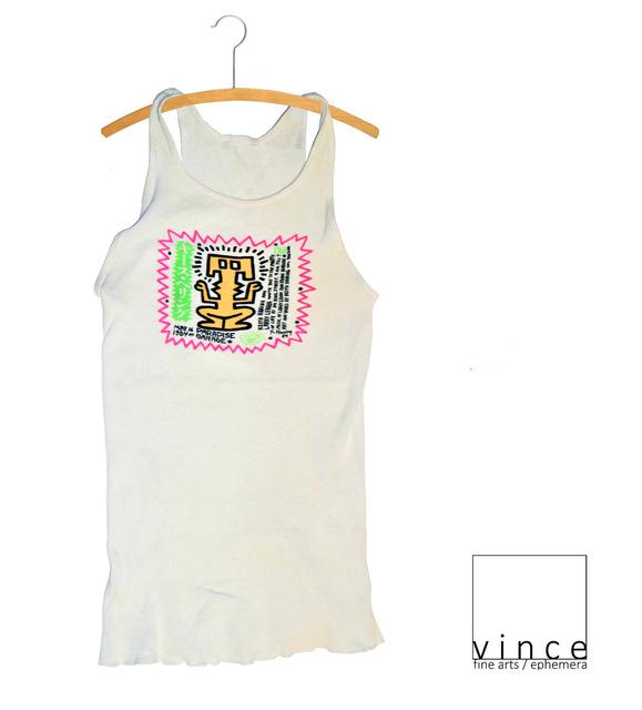 "Keith Haring, '""Paradise Garage"", 1984, Haring's 26th Birthday Celebration Party, Admission Tee Shirt Invitation, Silkscreen ', 1984, VINCE fine arts/ephemera"