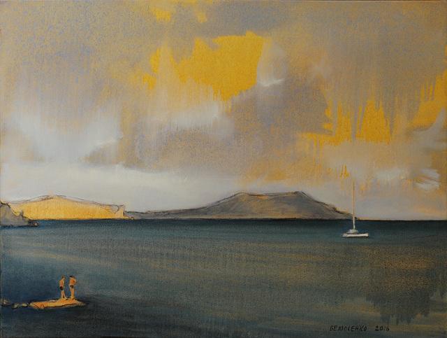 Oleksii Beliusenko, 'Catamaran with Cap Meganom on the Background (#3)', 2016, Saphira & Ventura Gallery