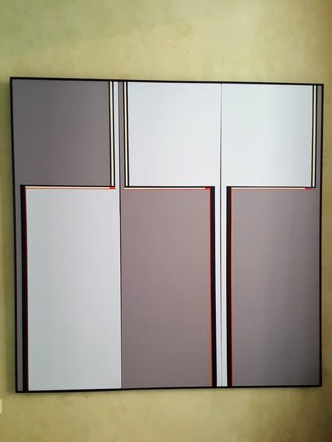 , 'Tryptique - gris - gris clair bleuté / Art Contruit,' 2017, Galerie Marie-Robin