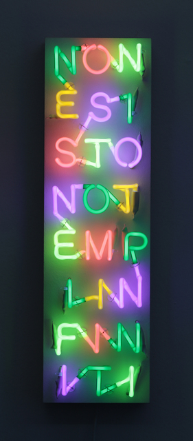 , 'NONESISTONOTEMPIINFINITI,' 2013, Walter Storms Galerie
