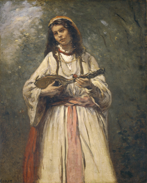Jean-Baptiste-Camille Corot, 'Gypsy Girl with Mandolin', ca. 1870, National Gallery of Art, Washington, D.C.
