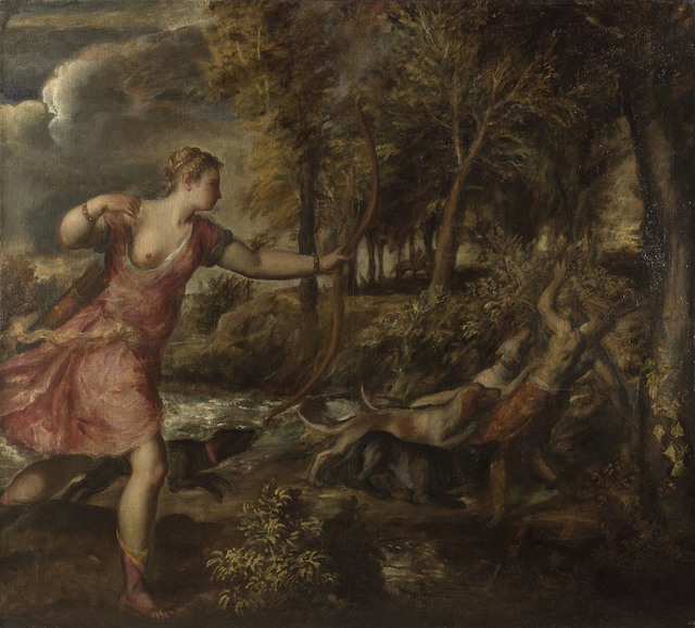 , 'The Death of Actaeon,' 1559-1575, The National Gallery, London