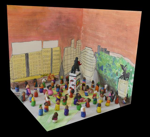 , 'Memoria Fabricada - Plaza Dignidad, Marcha del 25 de Octubre,' 2019, Isabel Croxatto Galería