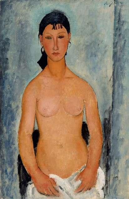, 'Weiblicher Akt, stehend (Elvira) (Female Nude, Standing [Elvira]),' 1918, Kunstmuseum Bern