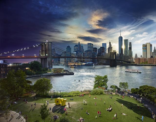 , 'Brooklyn Bridge Park, NYC - Day to Night,' 2016, Holden Luntz Gallery