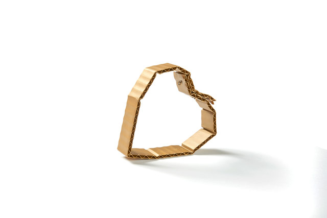 , 'Cardboard (Heart) bracelet,' 2016, Ornamentum