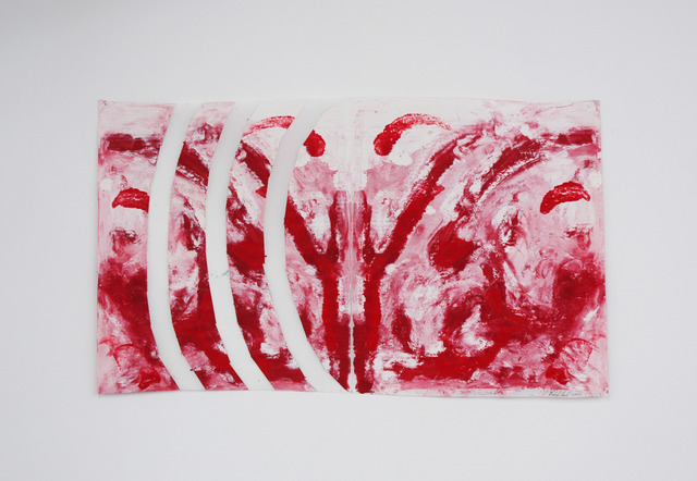 , 'Red/White Curved Stripes,' 2005, Cindy Rucker Gallery