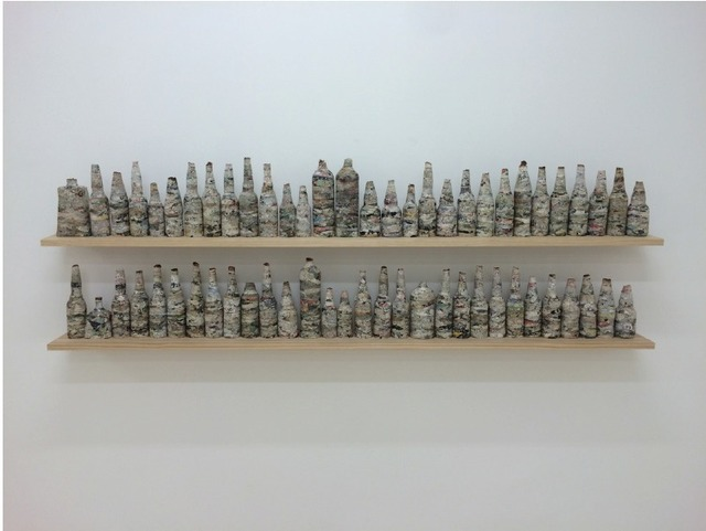, 'Botellas hechas con documentos,' 2015, Licenciado