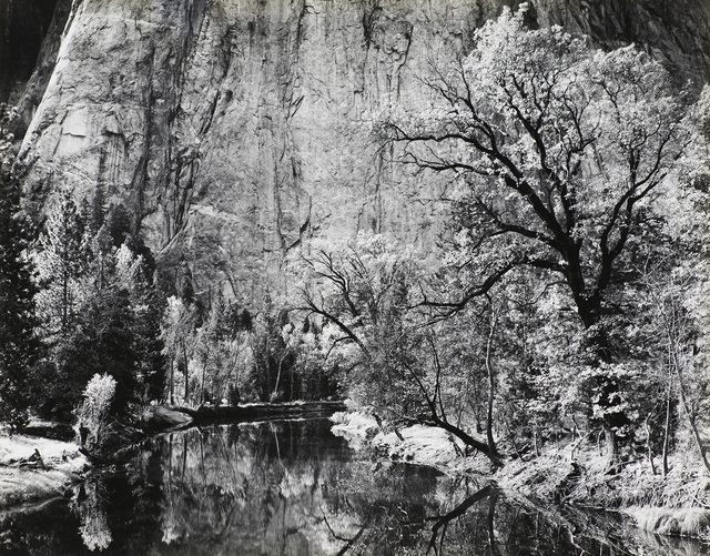 , 'Merced River, Cliffs of Cathedral Rocks, Autumn, Yosemite National Park, California,' 1939, The Ansel Adams Gallery