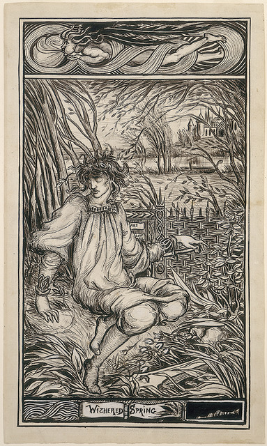Aubrey Beardsley, 'Withered Spring', Drawing, Collage or other Work on Paper, Pen and black ink heightened with white over graphite, National Gallery of Art, Washington, D.C.