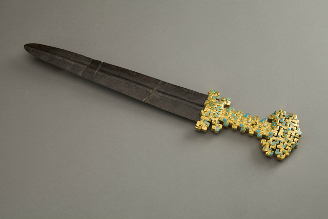 , 'Iron Sword with Gold Hilt Decorated with Panhui Patterns and Turquoises,' Late Spring, and, Autumn period, 600, 500 BC, Art Museum of the Chinese University of Hong Kong