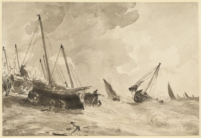 , 'Shipping in a Stormy Sea at Brighton,' 1824, Clark Art Institute