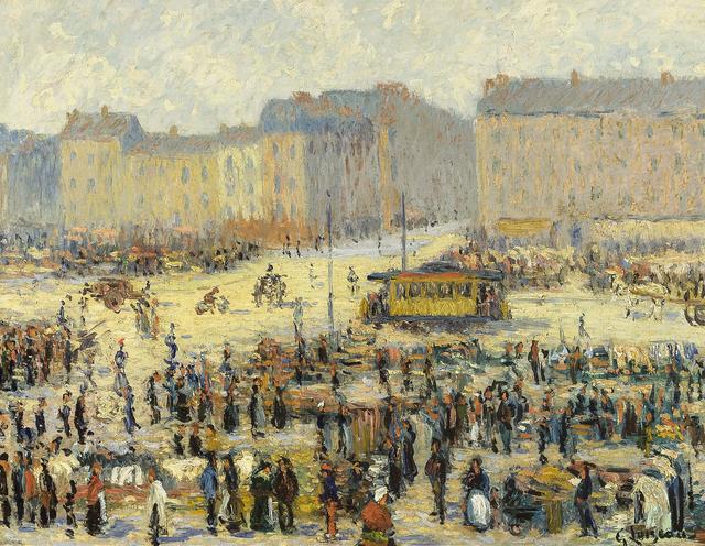 Gustave Loiseau, 'Place de l'Etoile', ca. 1923, Painting, Oil on canvas, Hirschl & Adler