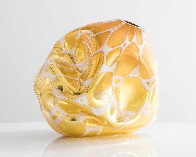 , 'Unique Mirroring Dented Murrine vessel in hand-blown glass,' 2015, R & Company