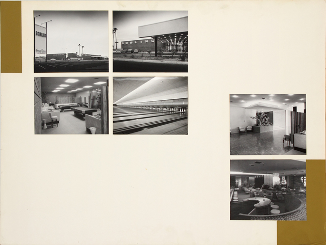 , 'Presentation panel for South Bay Bowling Center, Torrance, CA with vintage original photographs by Julius Shulman,' ca. 1950, Edward Cella Art and Architecture