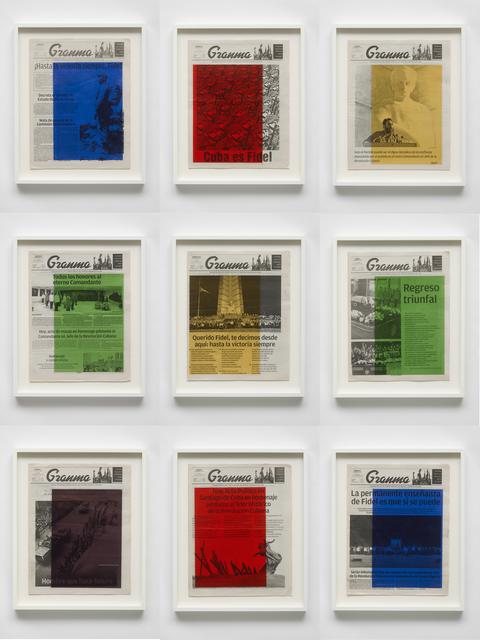 Marine Hugonnier, 'Art For Modern Architecture: Granma – Fidel Castro's Mourning. November 26,27,28,29,30 and December 1,2,3,4, 2016', 2018, Ingleby Gallery
