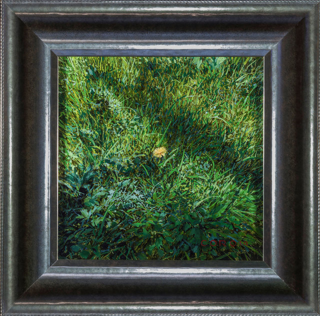 Justin Kaufman, 'Yellow Flower', 2019, Painting, Oil on Panel, ARCADIA CONTEMPORARY