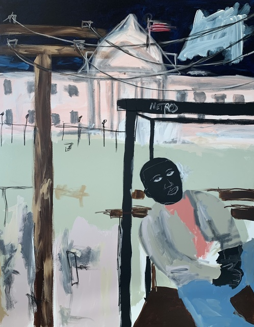 , 'Bus Stop At The White House,' 2019, Jonathan Ferrara Gallery