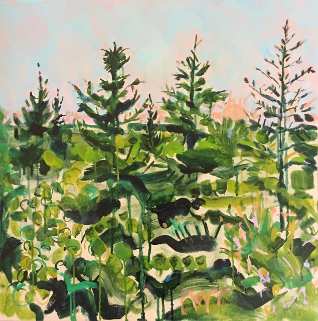 , 'North Lake in Green,' 2018, parts gallery