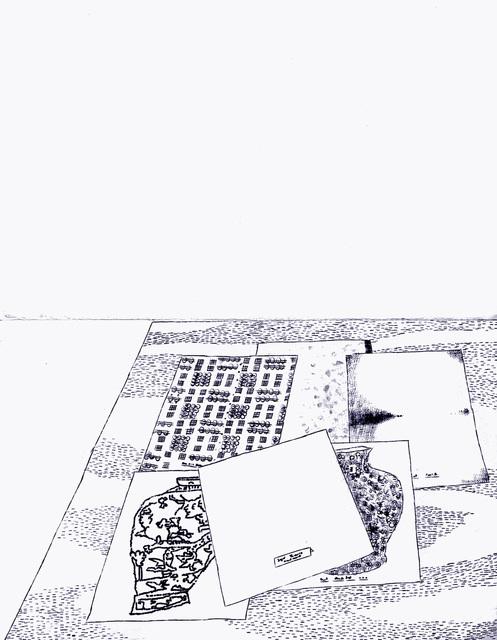 """, '""""Typewriter Drawings"""" in the series """"Typewriter Drawings"""",' 2019, Catharine Clark Gallery"""