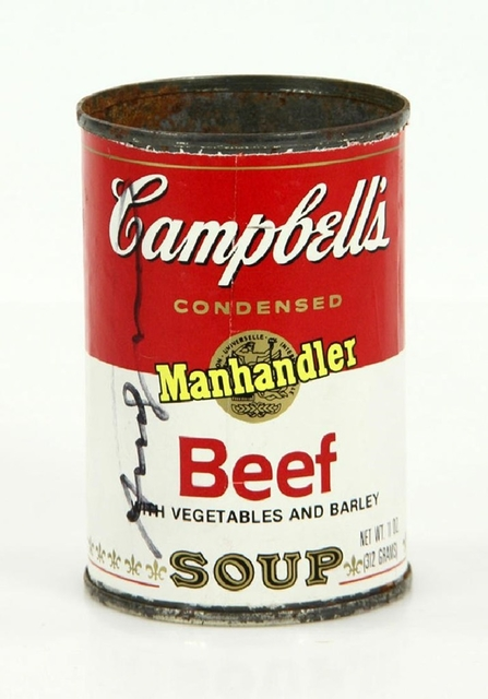 Andy Warhol, 'Campbell's Soup Can (Hand Signed by Andy Warhol at Fiorucci's for the ACE Gallery)', 1978, Alpha 137 Gallery Auction