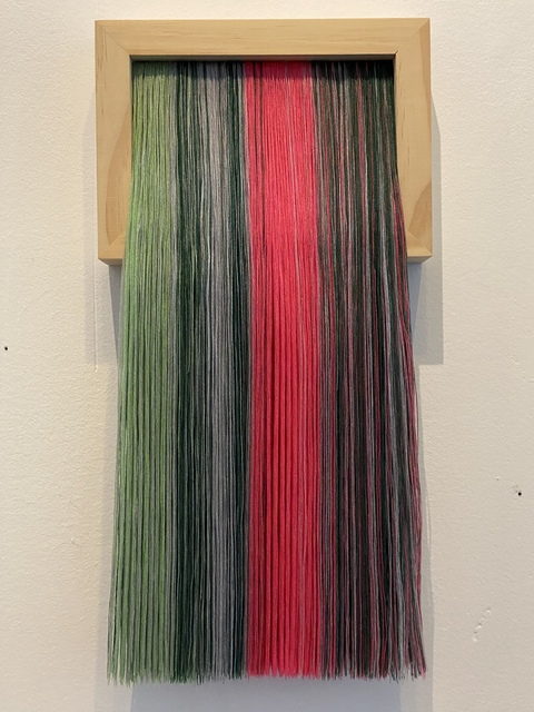 Bumin Kim, 'Vexillum #32', 2019, Painting, Thread and wood, Ro2 Art