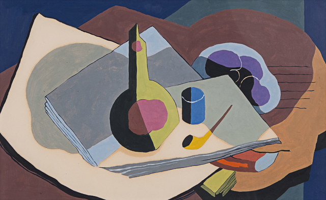 Kenneth Stubbs, 'Still Life with Pipe and Bottle', 1934, Rosenberg & Co.