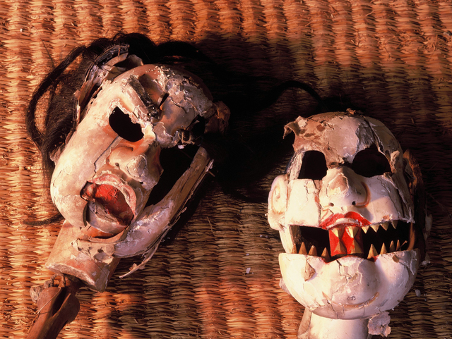 ", '""Heads of Hannyamaru"" Spirited face of wooden puppet,' 1991-1993, Photo Gallery Artisan"