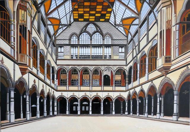 Bert Hermans, 'Exchange building Antwerp', 2019, Painting, Oil on Canvas, the gallery STEINER