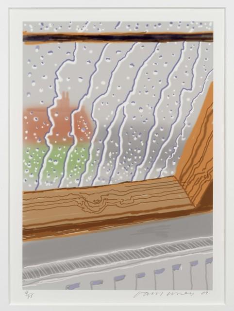 David Hockney, 'Rain on the Studio Window', 2011, Leslie Sacks Gallery