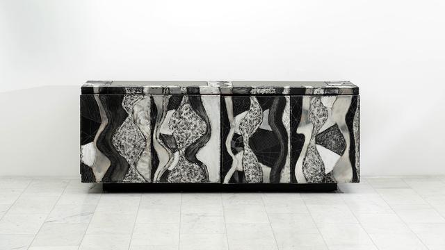 Paul Evans (1931-1987), 'Paul Evans Argente Console (PE-41), USA', ca. 1970, Design/Decorative Art, Aluminum, Wood, Todd Merrill Studio