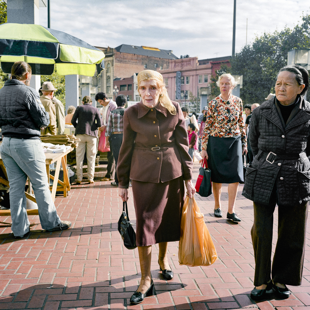 , 'Woman in Brown Suit at the Heart of the City Farmers Market, 1983,' 2018, EUQINOM Gallery