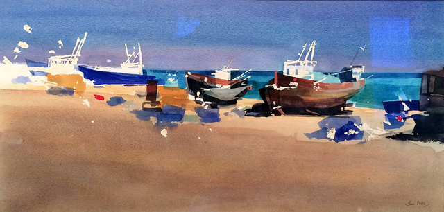 , 'Fishing boats,' , Candida Stevens