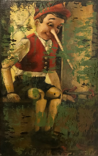 Jill McVarish, 'Pinocchio Contemplates Skates', 2020, The Secret Gallery